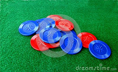 Poker Chips and Table