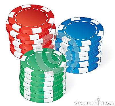 Poker chips vector