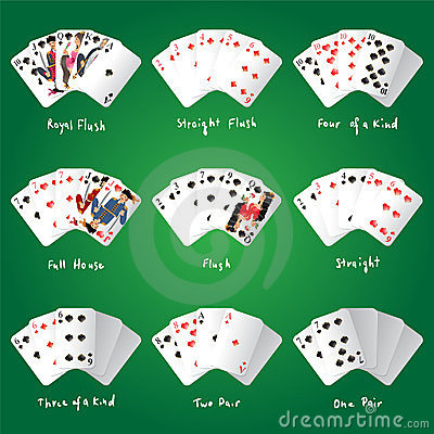 Free Poker Combinations Stock Photo - 23914330