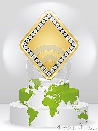 Poker element - rhombus
