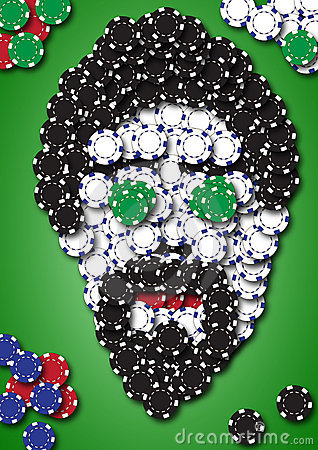 Free Poker Face From Chips Royalty Free Stock Photography - 20878287