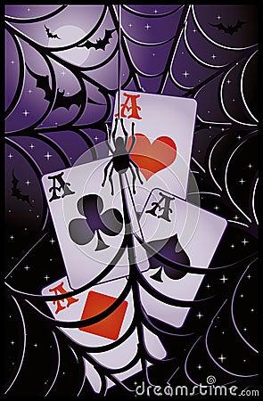 Poker halloween banner
