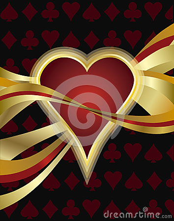 Poker heart card