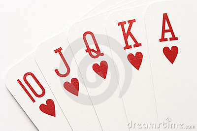 Poker - hearts royal flush