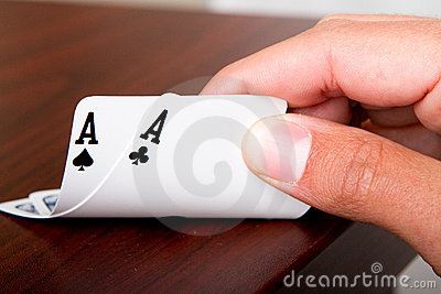 Poker Luck Stock Image - Image: 20946321