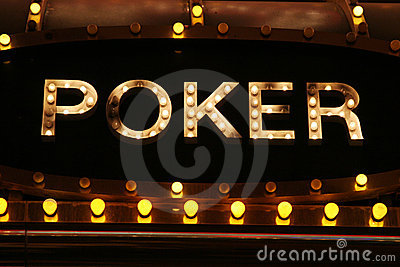 Poker neon lights Editorial Image