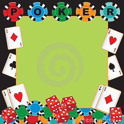 Poker party gambling invitation