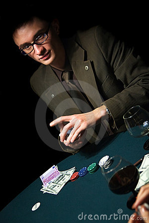 Free Poker Player Royalty Free Stock Photography - 11675087