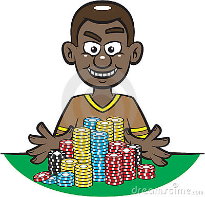 Free Poker Player All In Stock Images - 13786984