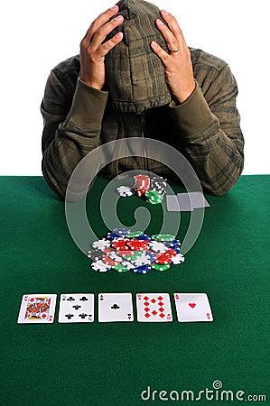Poker Player in Despair