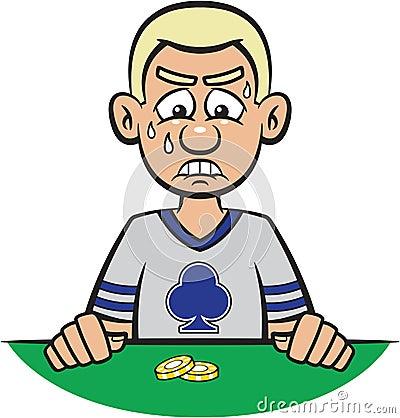 Poker Player Losing