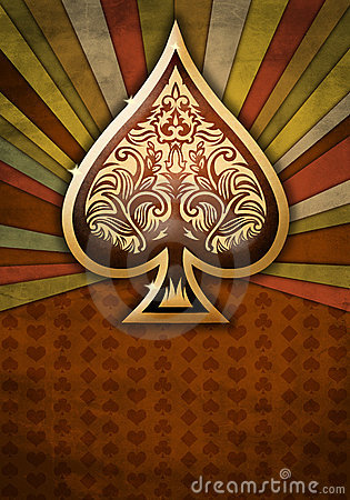 Free Poker Spade Design On A Textured Background Royalty Free Stock Images - 21945909