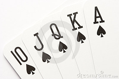 Poker - spades royal flush