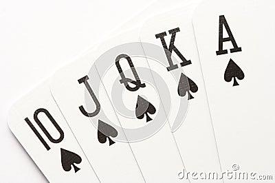 Poker - spades royal flush