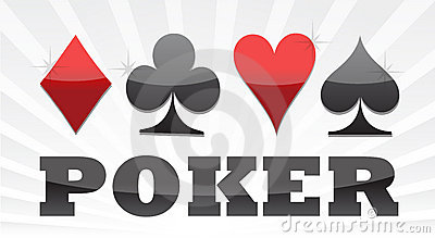 Poker suit illustration design