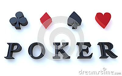 Poker symbols 3D