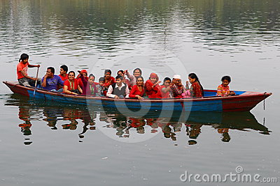 Pokhara lake taxi Editorial Stock Image