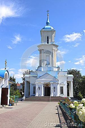 Free Pokrovsky Cathedral In The City Of Baranovichi In Belarus Stock Photography - 50298982