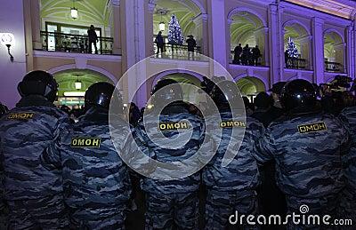 Polícia especial do pelotão Foto Editorial