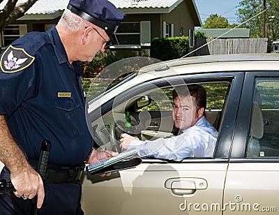 Polícia - excitador bebido culpado