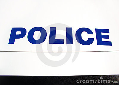 Polícia na capa do carro