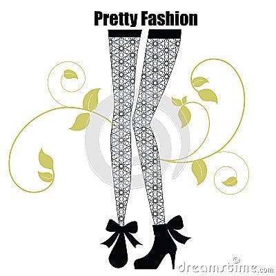 Polainas de moda con el modelo