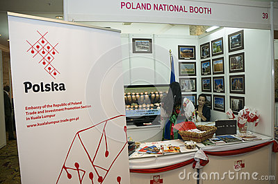 Poland Booth Editorial Stock Image