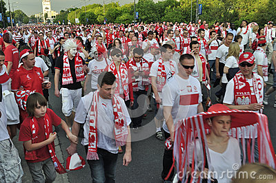 Poland fans EURO 2012 Editorial Image