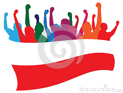 Poland fans illustration