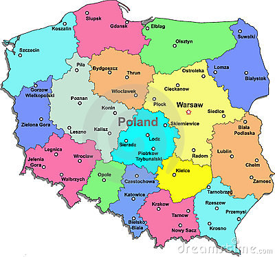 Poland Map Stock Image Image 13249801