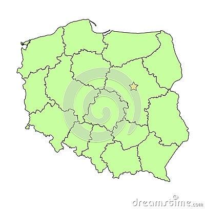 Poland  map outline