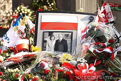 Poland mourns.. Editorial Photography