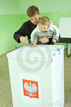 Poland s parliamentary election 2011 at ballot bo Editorial Stock Image