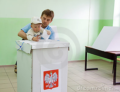 Poland s presidential election - first round vote Editorial Photo