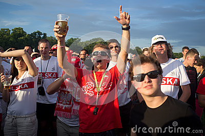 Poland vs Greece match at euro 2012 Editorial Stock Photo