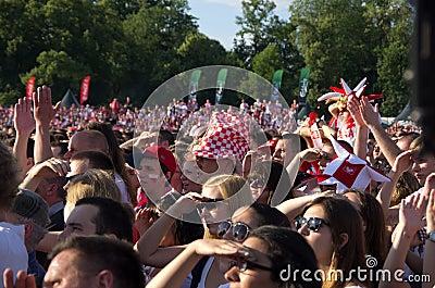 Poland vs Greece match at euro 2012 Editorial Image