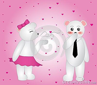 Polar Bear Blowing Kisses