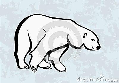 Polar bear  icons tattoo