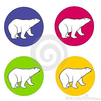 Polar Bears Icons or Logos
