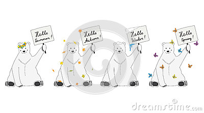Polar bears meet seasons