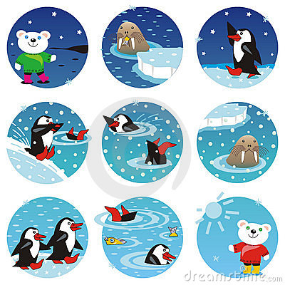 Free Polar Bears, Penguins, Seal Stock Photo - 2690690
