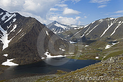 Royalty Free Stock Photography: Polar mountain lake