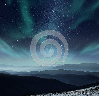 Free Polar Night Royalty Free Stock Photo - 71512175