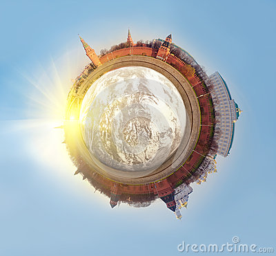 Polar Panorama of Moscow