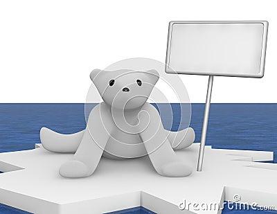 Polarbear icefloe