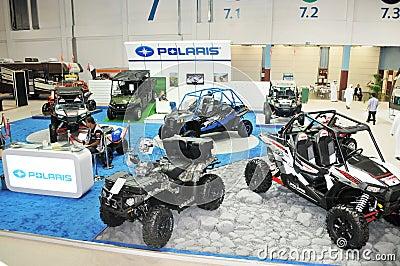 Polaris Desert Vehicles at Abu Dhabi International Hunting and Equestrian Exhibition (ADIHEX) Editorial Photography