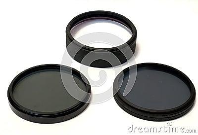 Polarizing, neutrally gray, and macro lens