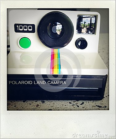 Polaroid camera. Editorial Photo