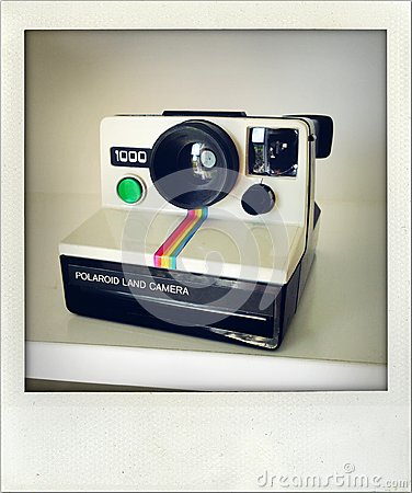 Polaroid camera. Editorial Photography