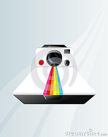 Polaroid camera Editorial Stock Photo